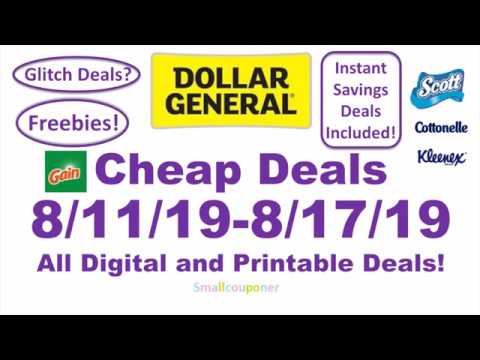 Dollar General Cheap Deals 8/11/19-8/17/19! All Digital And Printable Deals!