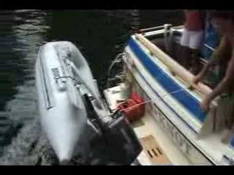 Powered Dinghy and Inflatable Boat Lifting System
