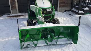 John Deere 1025R with Mauser Cab Complete walk around.   Showing controls while running 60FPS