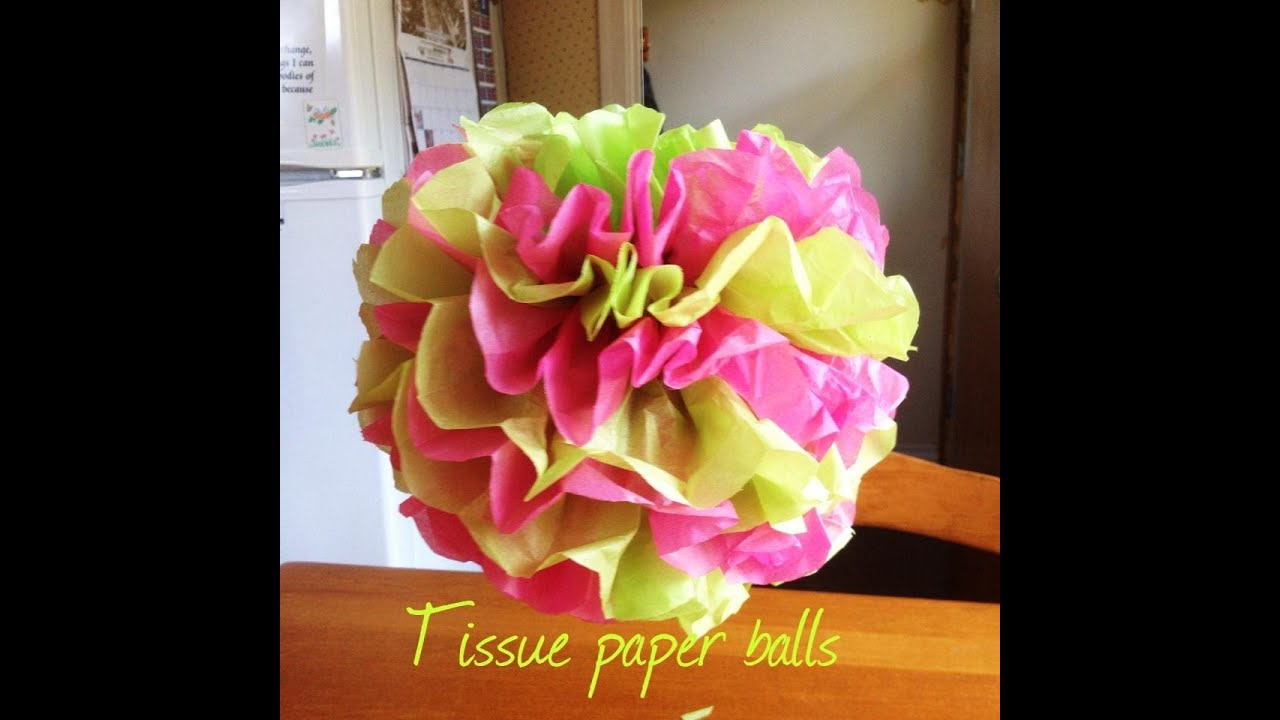Tissue Paper Balls Baby Shower On A Budget Mini Series Youtube
