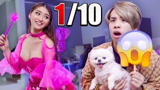 Husband Rates My WEIRD Halloween Costumes!!!