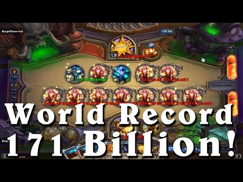 Hearthstone: 171 Billion Damage World Record -Largest Spell Hit Ever
