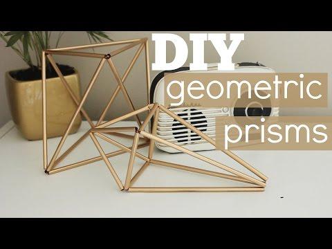 DIY Geometric Prism Decor