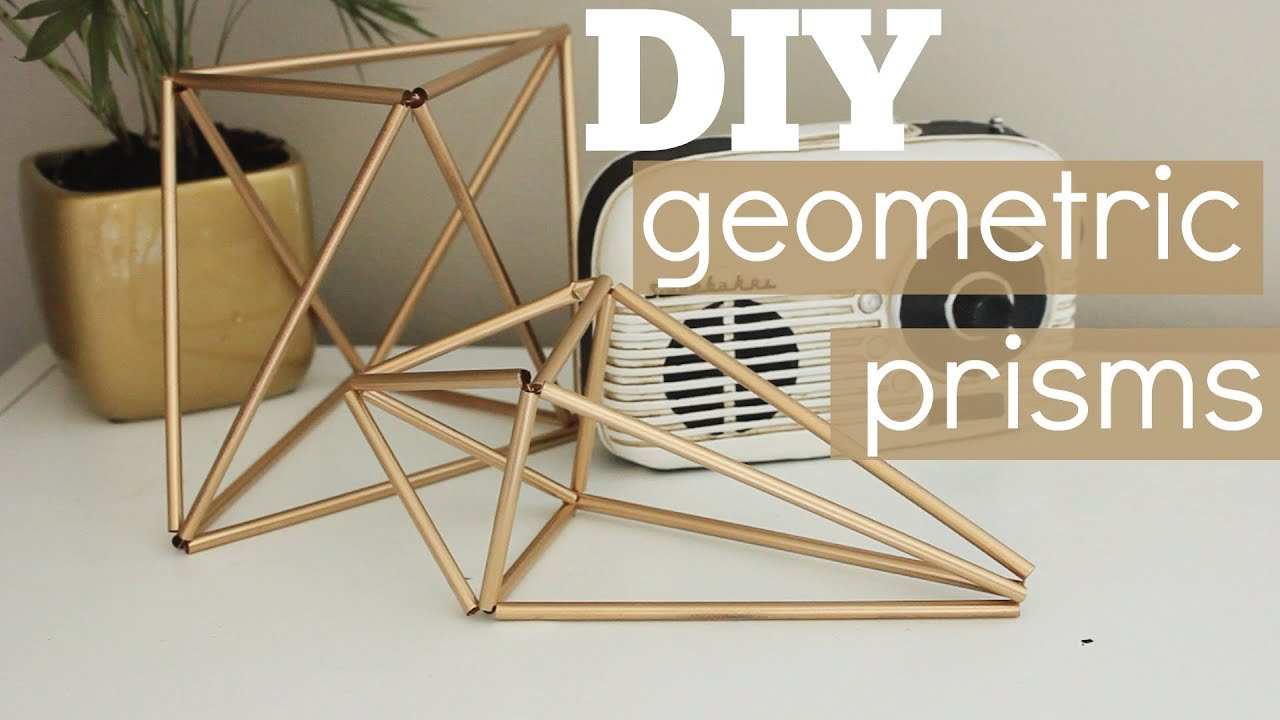 DIY Geometric Prism Decor - YouTube
