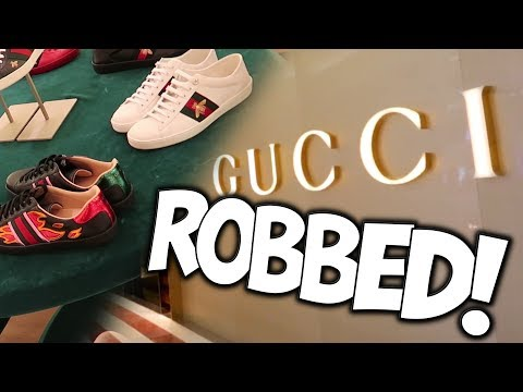 GUCCI STORE ROBBED FOR $20,000!!