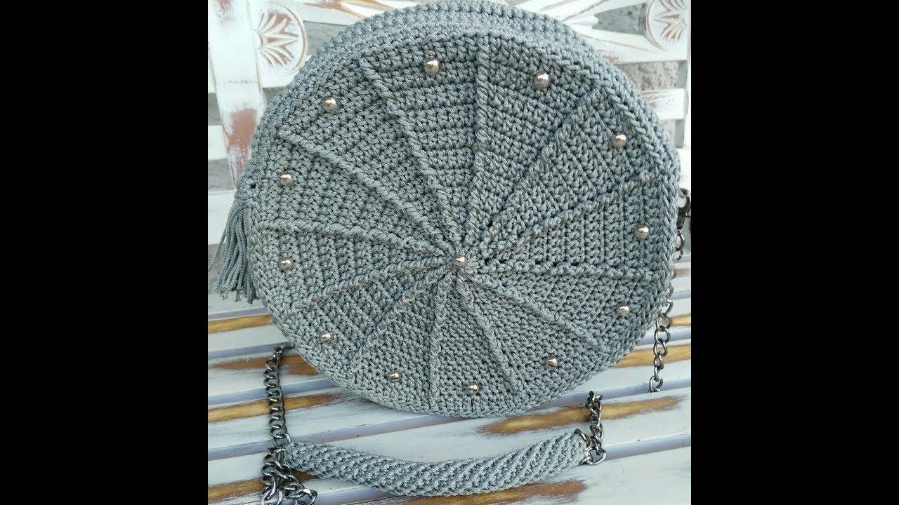 Tutorial Borsa Uncinetto Rotonda Crochet Circle Bag Youtube