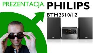 philips btm2310 12 unboxing prezentacja bluetooth cd mp3 cd usb fm ukf led 15 w
