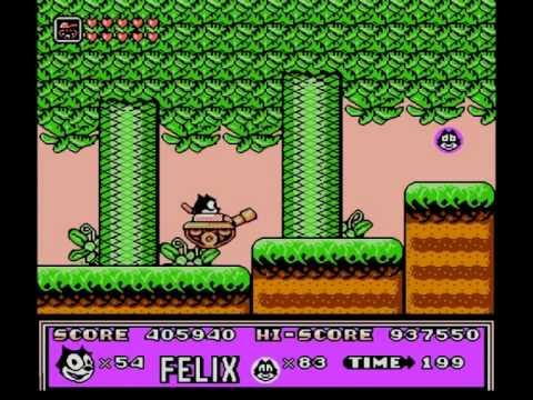 Felix the Cat / Кот Феликс (NES / Денди). Прохождение