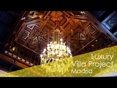 Luxury villa project by Ruarte Contract in Madrid- Impresionantes artesonado, muebles y escalera