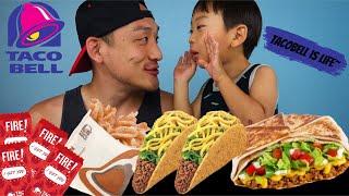 ASMR + MUKBANG + TACO BELL (eating show and crunch battle!)