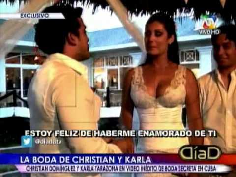 Karla Tarazona y Christian Domínguez: Así fue su boda secreta en Cuba