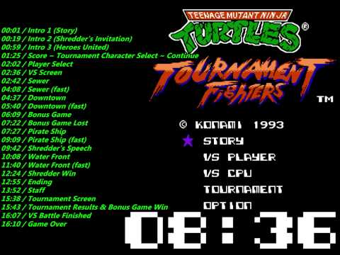 Nes Teenage Mutant Ninja Turtles - Tournament Fighters Soundtrack