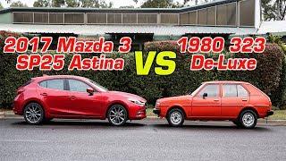 Mazda Old v New: 2017 Mazda 3 SP25 Astina v 1980 323 De-Luxe - Automobile 5s