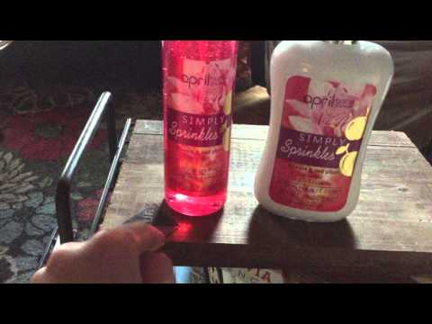 Chit Chat : April bath and Shower Simply Sprinkles Body Splash from Dollar Tree
