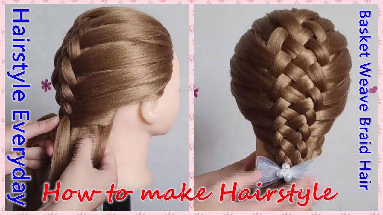 Learn Easy Basket Weave Braided Hair Tutorial,Girls Long