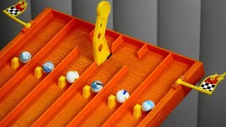 Epic Marble Race Tournament On Hot Wheels Super 6 Lane Raceway Most Thrilling