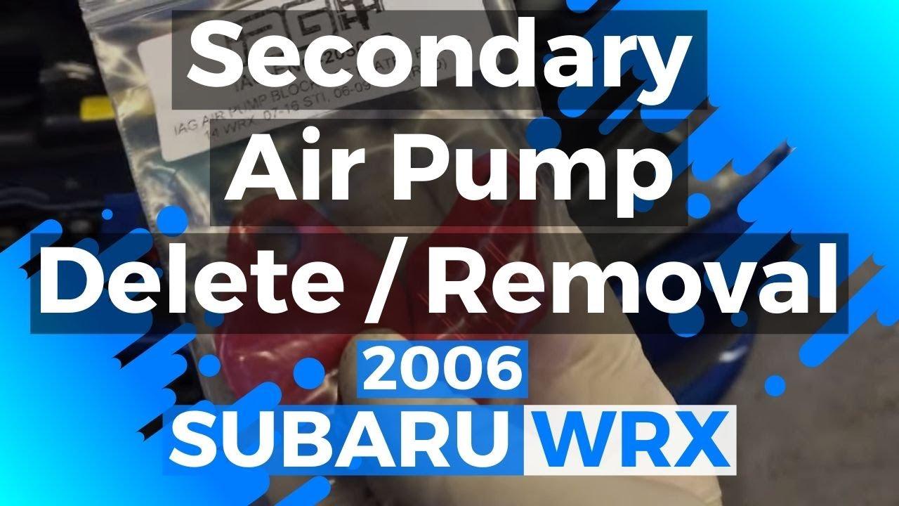 2008 Hyundai Sonata Wiring Diagram Subaru Wrx Secondary Air Pump Removal Youtube