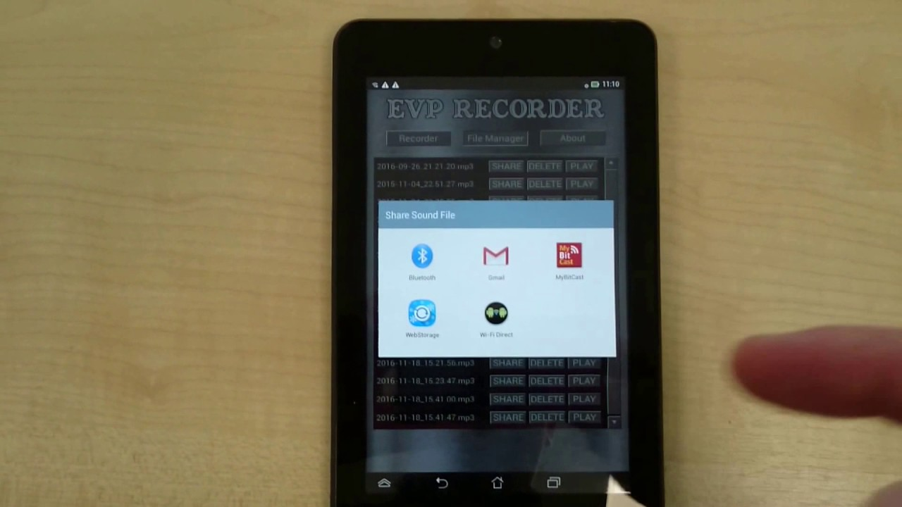 Spotted: Ghosts - EVP Recorder - Cool new features / updates in version  2 0 8