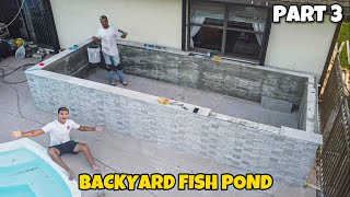 FINISHING My 4000G CONCRETE POND BUILD!!!