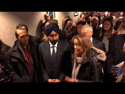 Ravi Bhalla NJ Transit Press Conference Union Dry Dock 1-15-2018