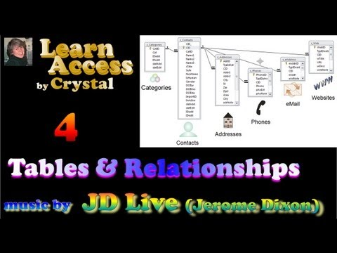 Learn Access -4- Tables and Relationships (cc) 36:04 ~music: JD Live