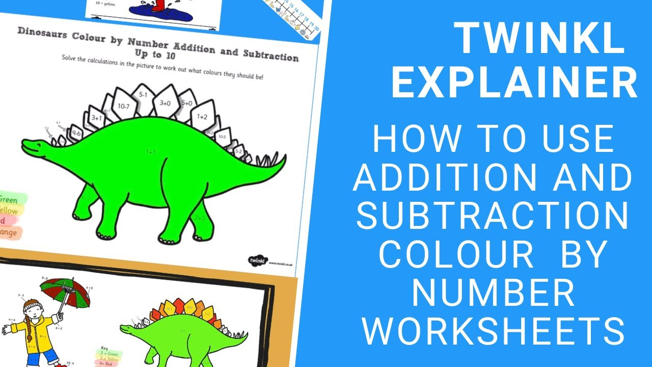 Colour By Subtraction to 18 Worksheet   Maths   F 18