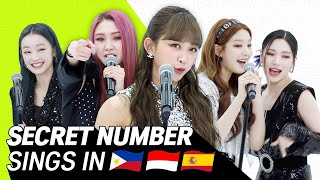 Download lagu K-POP STARS sing in THREE Languages🎤| SPN/INA/TAG| SECRET NUMBER | TRANSONGLATION