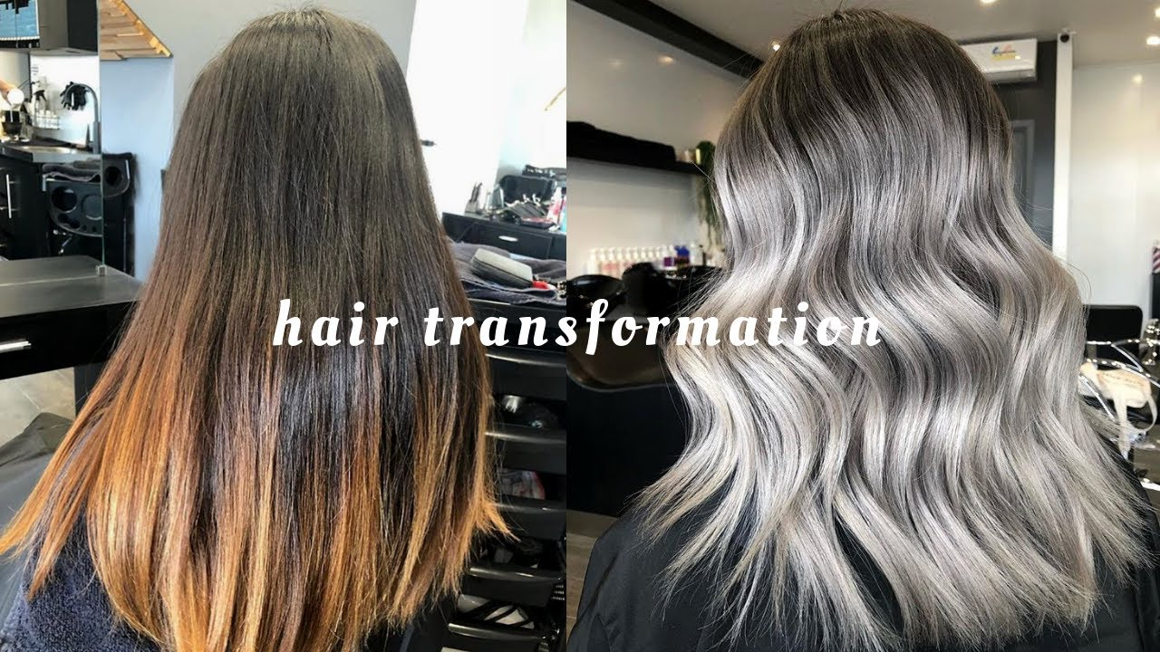 Hair Transformation Silver Ash Blonde In One Session