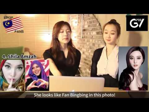Reaksi Orang Korea Kepada Artis Wanita Terkenal Malaysia