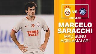 🎙 Marcelo Saracchi'den maç sonu açıklamaları. #GSvADS