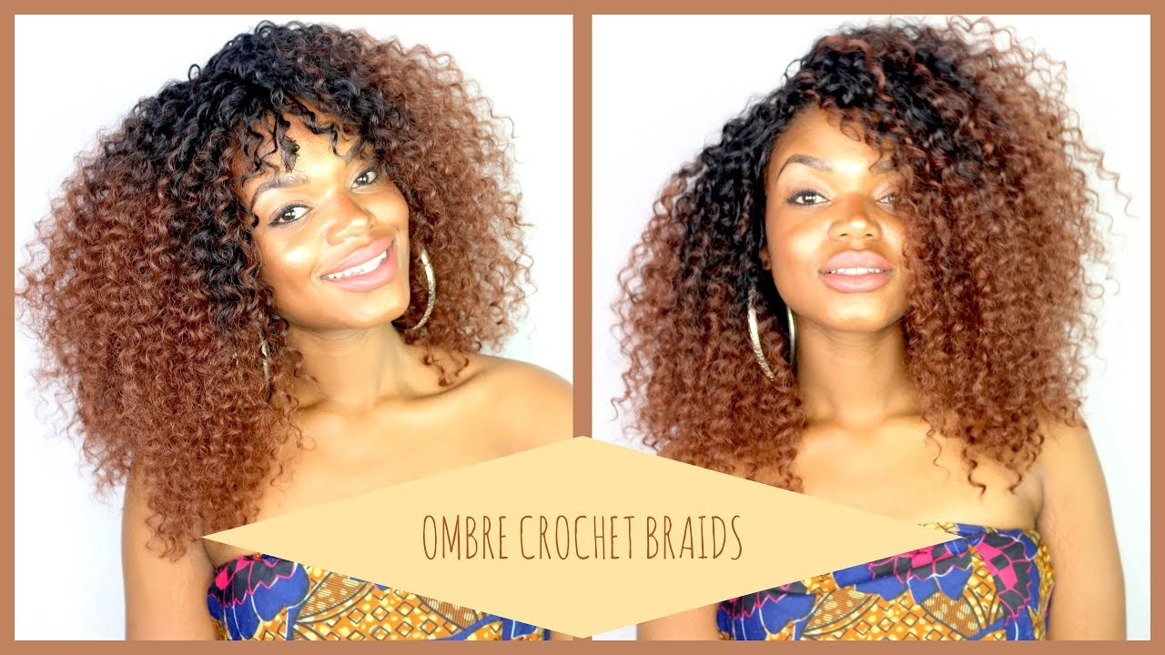 Knotlesss Crochet Braids ll Ombre Island curls from Trendy