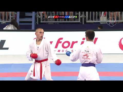 Nenad Dulovic(MNE) Vs Eray Samdan (TUR) -60kg. Tokyo Karate 1 Premier League 2019 Bronze Medals