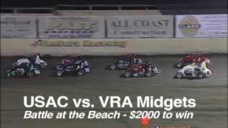 USAC Vs. VRA Midgets Battle At The Beach 3-19-11