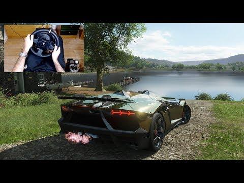 Forza Horizon 4 - LAMBORGHINI AVENTADOR J - Test Drive With THRUSTMASTER TX + TH8A - 1080p60FPS