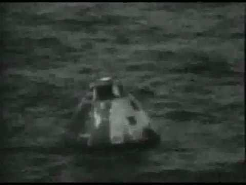 Apollo 13 reentry and splashdown as seen live on tv
