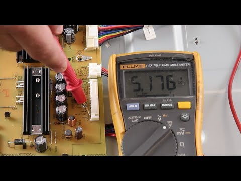 Vizio TV Won't Turn On - How to Measure Standby Voltages for Black Screen &  No Power