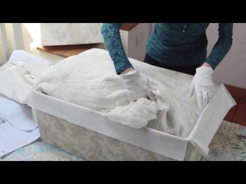 How to pack a Wedding Dress with the Empty Box Company