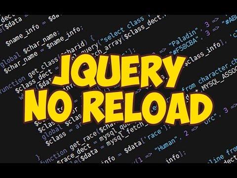 JQuery подгрузка контента без перезагрузки