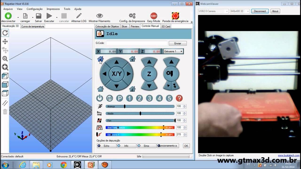 Vídeo 3-Configurando o Software Repetier Host para - YouTube