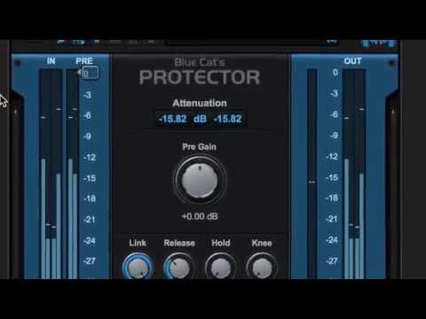 Blue Cat's Protector: a brickwall limiter for your master buss