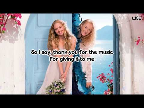 "Amanda Seyfried - Thank You for the Music (From ""Mamma Mia!"") [Lyrics Video]"