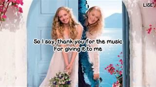 "Amanda Seyfried - Thank You for the Music (From ""Mamma Mia!"") [Lyrics Video]"