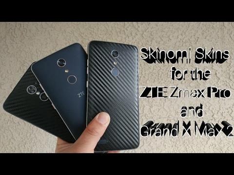Skinomi Skins for the ZTE Zmax Pro and ZTE Grand X Max 2