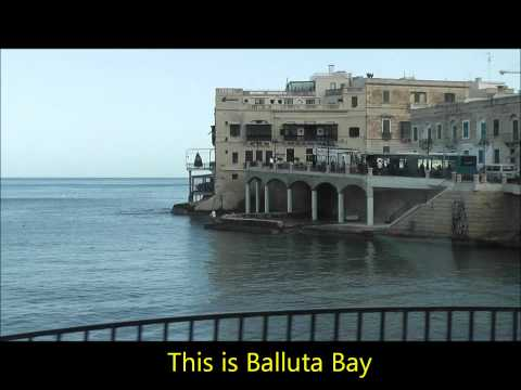 Valletta , Malta. Driving from St Julian's/Paceville to Floriana Bus Terminal