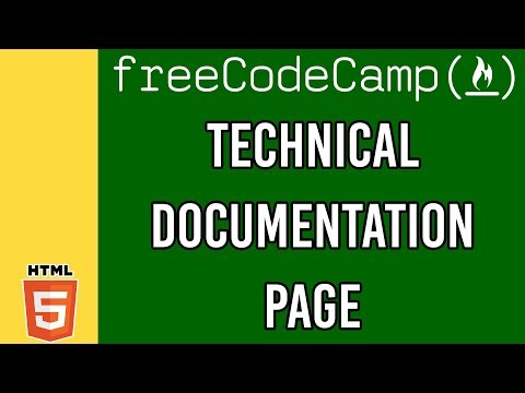 Technical Documentation Page | Responsive Web Design Principles FreeCodeCamp Certfication