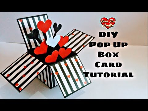 DIY Pop Up Box Card Tutorial | Valentine Day Gift Idea (Highly Requested Video)
