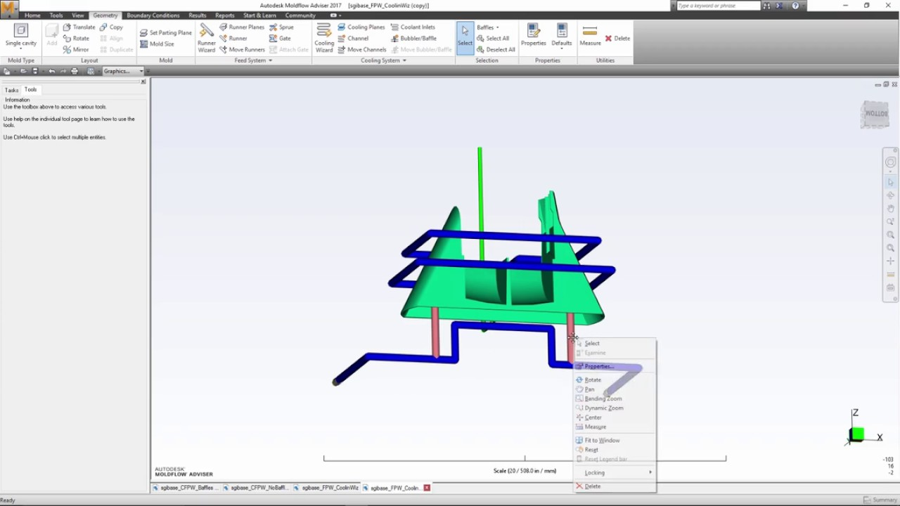 Autodesk Moldflow – Plastic injection and compression mold