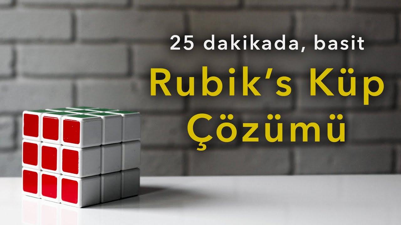 Rubik's Küp Zeka Küpü Çözümü - Basit Yöntem, Şekille Anlatım