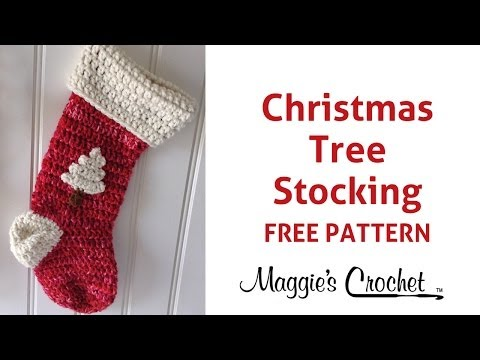 Christmas Stocking Free Crochet Pattern - Right Handed