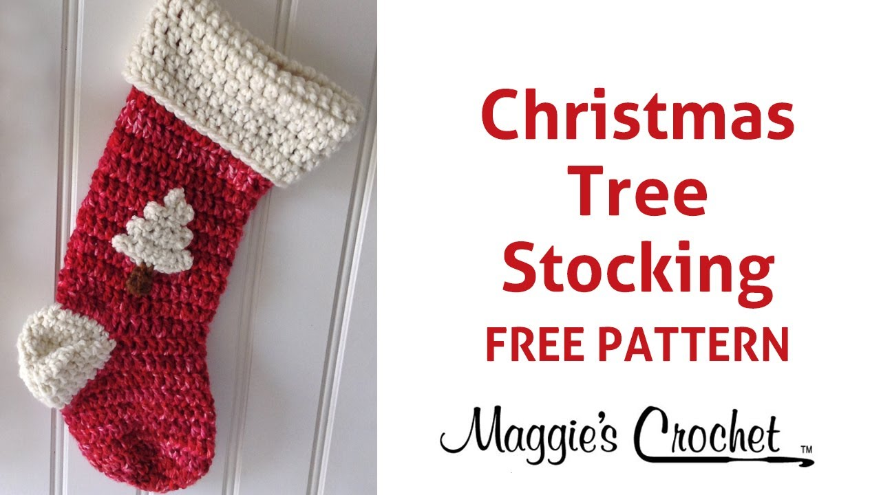 Christmas Stocking Free Crochet Pattern - Right Handed - YouTube